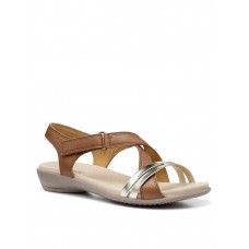 Women Flat Shoes - Hotter Flare Il Wide Fit Sandals - Tan HHUW176