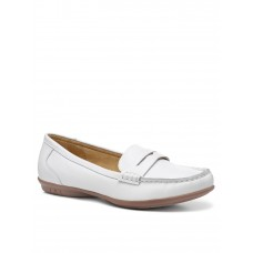 Women Flat Shoes - Hotter Hailey Wide Fit Loafer - White AMVL546