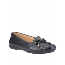 Women Flat Shoes - Hush Puppies Maggie Loafers - Black VHCI465