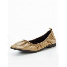 Women Flat Shoes - OFFICE Front Page Ruched Ballerina - Khaki KHNC691