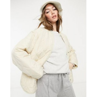 & Other Stories recycled quilted jacket in beige Women Coats MUWH654