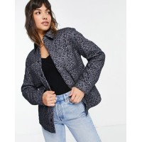 & Other Stories jacquard floral print jacket in blue Women Jackets outlet JCUB245