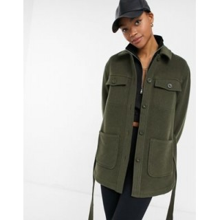 & Other Stories recycled belted jacket in khaki Women Jackets quality INBU859