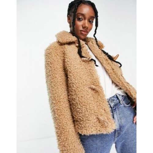 & Other Stories recycled short faux shearling jacket in beige Women Jackets sale next DSFL937