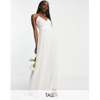 Anaya With Love Tall tulle v neck maxi dress in white Women A Line Dresses New Arrival MDPU445