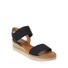 Andre Assous Women's Women's Neveah Slip On Strappy Sandals Black ZHYD737