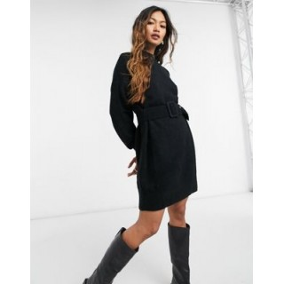 & Other Stories knitted belted dress in black Women Jumper Dress e fashion TIGF169