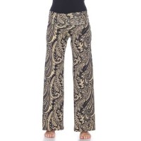 White Mark Women Pants Brown most comfortable - Summer Time Palazzo Pants OMCD7788