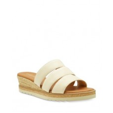 Andre Assous Women's Women's Reagan Slip On Wedge Sandals Beige Leather TIMF867