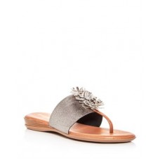 Andre Assous Young Women's Women's Novalee Featherweights™ Leather Fringe Demi Wedge Sandals Pewter/Metal Lowest Price LQPM586