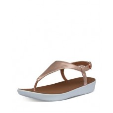 FitFlop Womens Women's Lainey Slingback Thong Wedge Sandals Rose Gold GCLV254