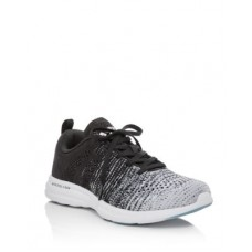 APL Athletic Propulsion Labs Young Women's Women's TechLoom Pro Low-Top Running Sneakers White/Heather Grey/Black Melange Ships Free XYAB872